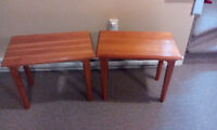 2 Pine side/coffee tables (WANT GONE ASAP)