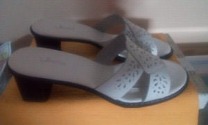 Sz 10. Brand new Jessica sandals, leather, made in Brazil