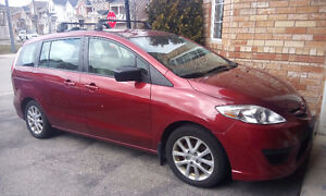 2010 Mazda Mazda5 GS w/   THULE roof cargo box value $500.00.