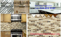 Kitchen Backsplash Installation & Recessed Potlights Installatio