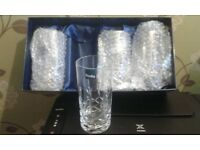 Denby cut glass crystal Tumbler Glasses