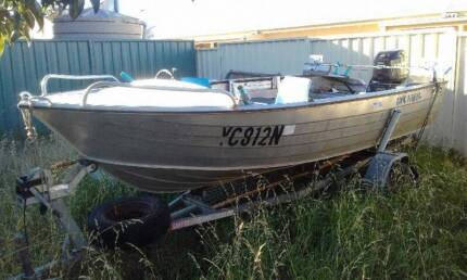 135ft Aluminum Runabout 35hp Evinrude 2stroke Low Hrs