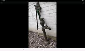 4ft tall heavy original old cast iron water pump ideal garden feature