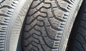 GOODYEAR NORDIC SNOW TIRES & RIMS... 215 70 R15 ... West Island Greater Montréal image 1