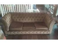SOLD!!! Chesterfield type Sofa bed