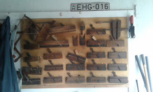 Vintage wooden finishing planes