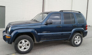 2002 JEEP LIBERTY. 4x4 AB MISFIRES ACTIVE SUV  LEATHER SEATS !!!