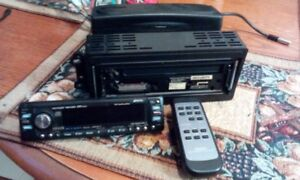 Clarion CD Player w/Motorized Removable Face/P & Remote Control