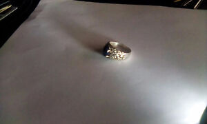 Blue Star Sapphire Ring Size 10 Sterling Silver .925