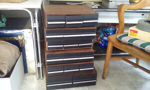 storage cabinets for Cassettes and VHS tapes