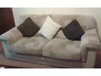 Cream pair of 3 seater and 2 seater matching sofas, super comfortable and in great condition