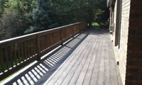Deck Staining and Repair