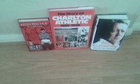 3 charlton athletic related books 2 are signed