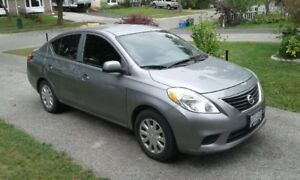2012 Nissan Versa sv Sedan 1.6L 5 speed manual