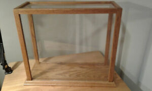 Solid Oak and Glass Display Cases