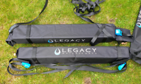 Legacy Sponge Roof Bars. Brand new, straps, instructions, carry bags.