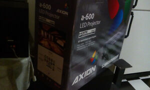 AXION LED PROJECTOR ***BRAND NEW*** IN BOX WITH 2 SCREENS