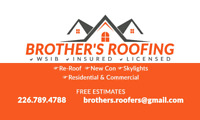 Roofing, shingles reroofs, chimney metals install.. 226 789 4788