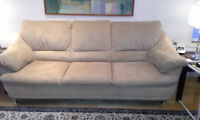 NATUZZI MICROFIBER SET OF 3 SOFAS - 3 PLACE 2 PLACE AND 1 PLACE