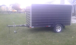 6x10 Enclosed Utility Trailer w gate new tires LED lights $1600