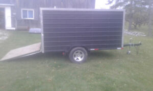 ** Enclosed snowmobile trailer w gate new tires and lights $1700