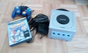 GameCube system, sonic mega collection, controller, 16mb memory