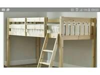 Kids mid sleeper bunk bed