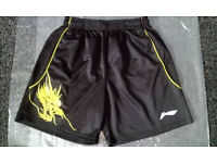 'LI LING' - MEN SHORTS BLACK - UK SIZE M - USED IN EXCELLENT CONDITION (LIKE NEW)