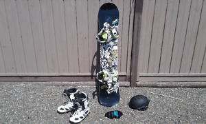 snowboard and snowboard gear