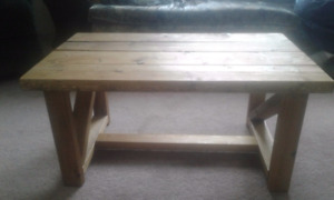 Handcrafted Wood Coffee Table
