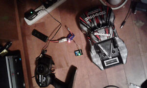 RC STUFF Remote, receiver, esc,battery, charger, 1/18 scale body