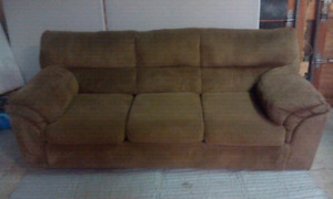 Brown 3 sitter couch very comfy