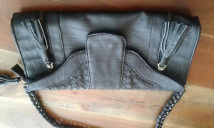 Black leather small purse/clutch from Paris