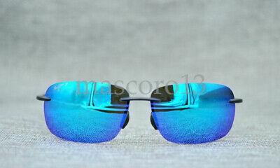 Maui Jim 407-11 Ho'okipa Smoke Grey Frame- Blue Hawaii Polarized Lenses Hookipa