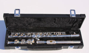 Brand new silver-plated 16 Closed Holes C Key Flute - $169.00