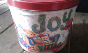 Joy Christmas tin