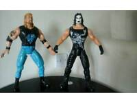 Wwf figures with push button for sound