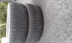 FOR SALE: TWO 225X60RX16 MICHILIN ICE RADIALS