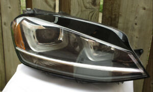 VW GOLF GTI HEADLIGHT RIGHT FITS 15 16 17 USED OEM