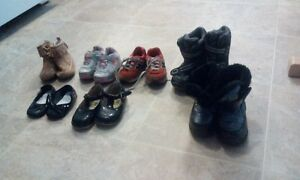 Size five shoes and boots (some size three as well)