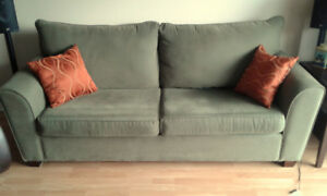 Sofa and matching chair for sale.