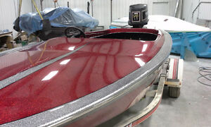 Fiberglass Gel-Coat Metal Flake Repairs and Restorations