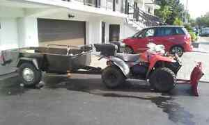 atv 4x4 and Trailer