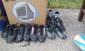 soccer shoes and baseball cleats