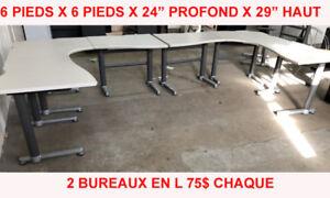 LOT BUREAU D'ORDINATEUR TABLE DE TRAVAIL OFFICE DESKS WORK TABLE