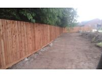 1.8m feathered edge fencing