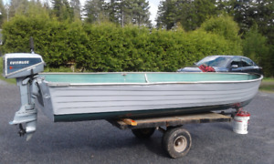 14 Foot Aluminum Boat and 4.5 Evinrude Outboard