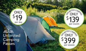 New Campground UNLIMITED CAMPING $399 ENTIRE SEASON