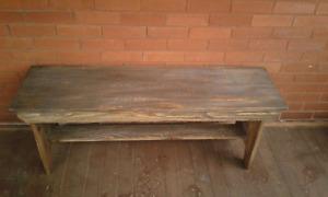 Rustic Farm Bench