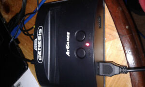 SEGA classic console 2 controllers 81 games and nhl 94
